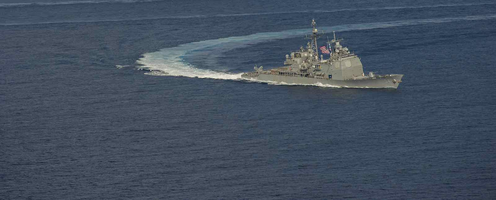 USS Antietam, one of two US warships that sailed near Paracel Islands on Sunday (Photo: US Pacific Fleet/Flickr)