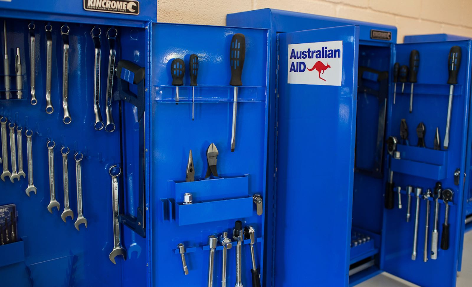 A tool kit provided by Australian aid at the Tonga Institute of Science and Technology (Photo: DFAT/Flickr)