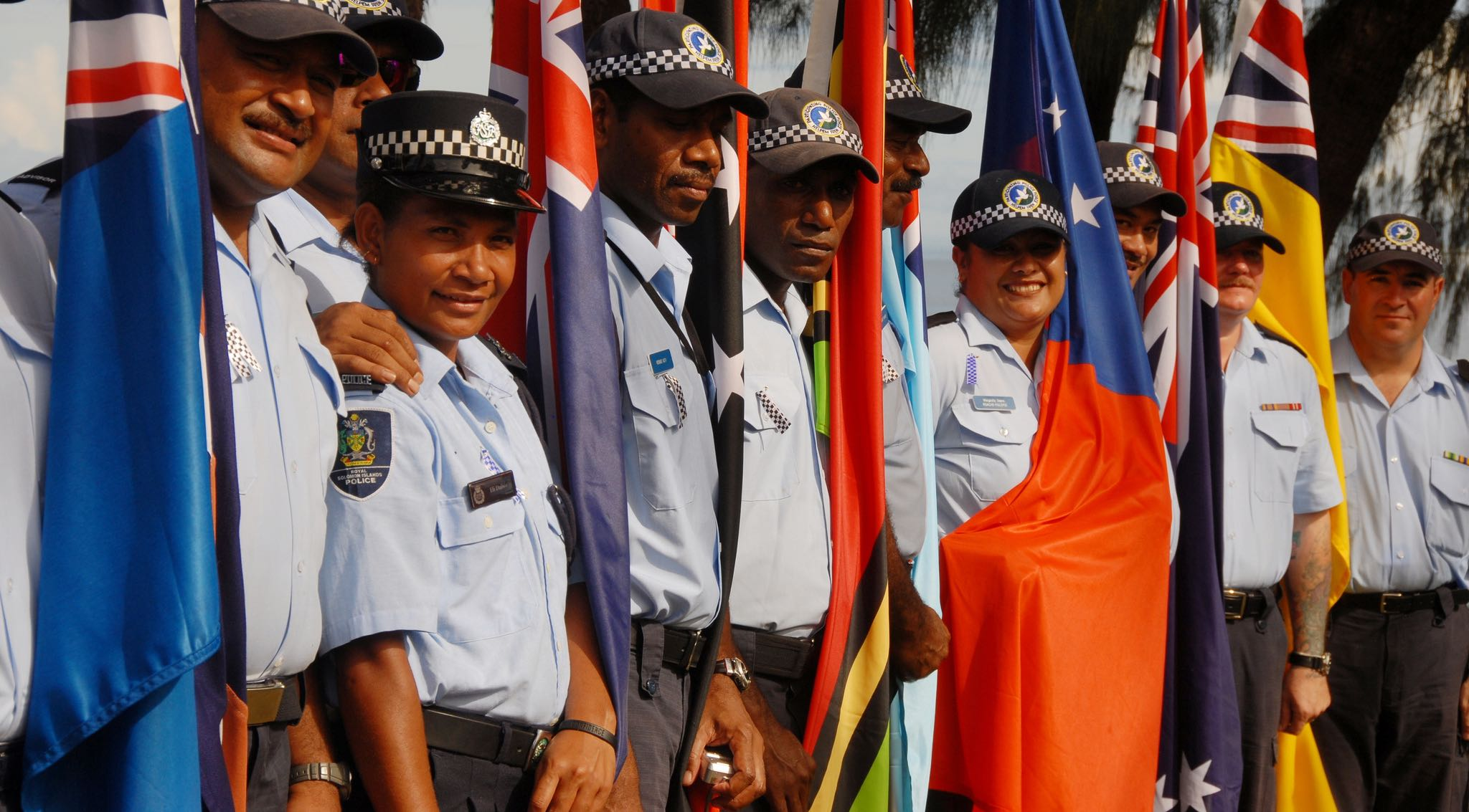 Members of the Participating Police Force, RAMSI (Photo: DFAT/Flickr)