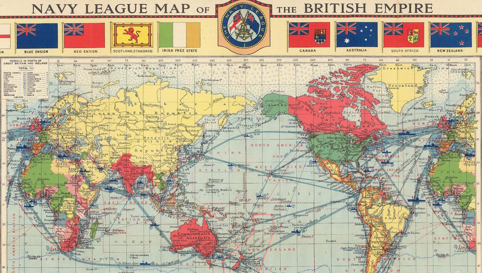 Map by London Geographical Institute 1922 (Photo: David Rumsey Map Collection)