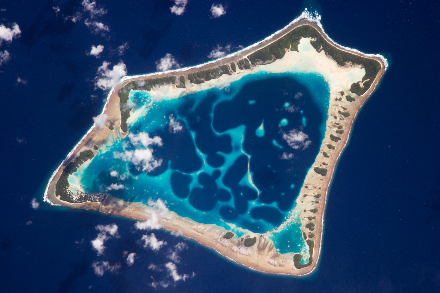 An aerial view of Atafu atoll in Tokelau. (Photo: NASA)