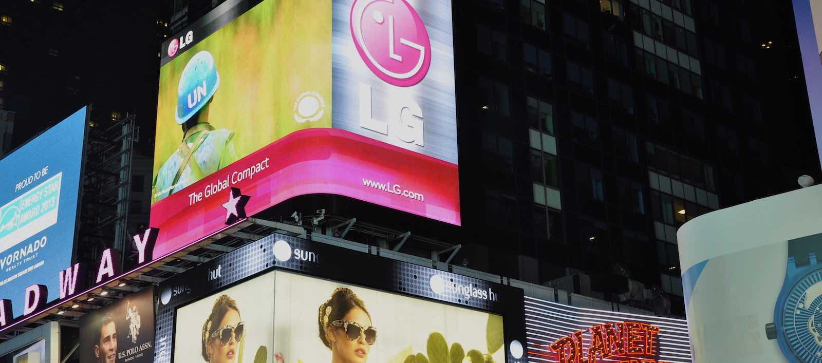 The UN Global Compact featured in advertising at New York's Times Square (Photo: UN Global Compact/Flickr)