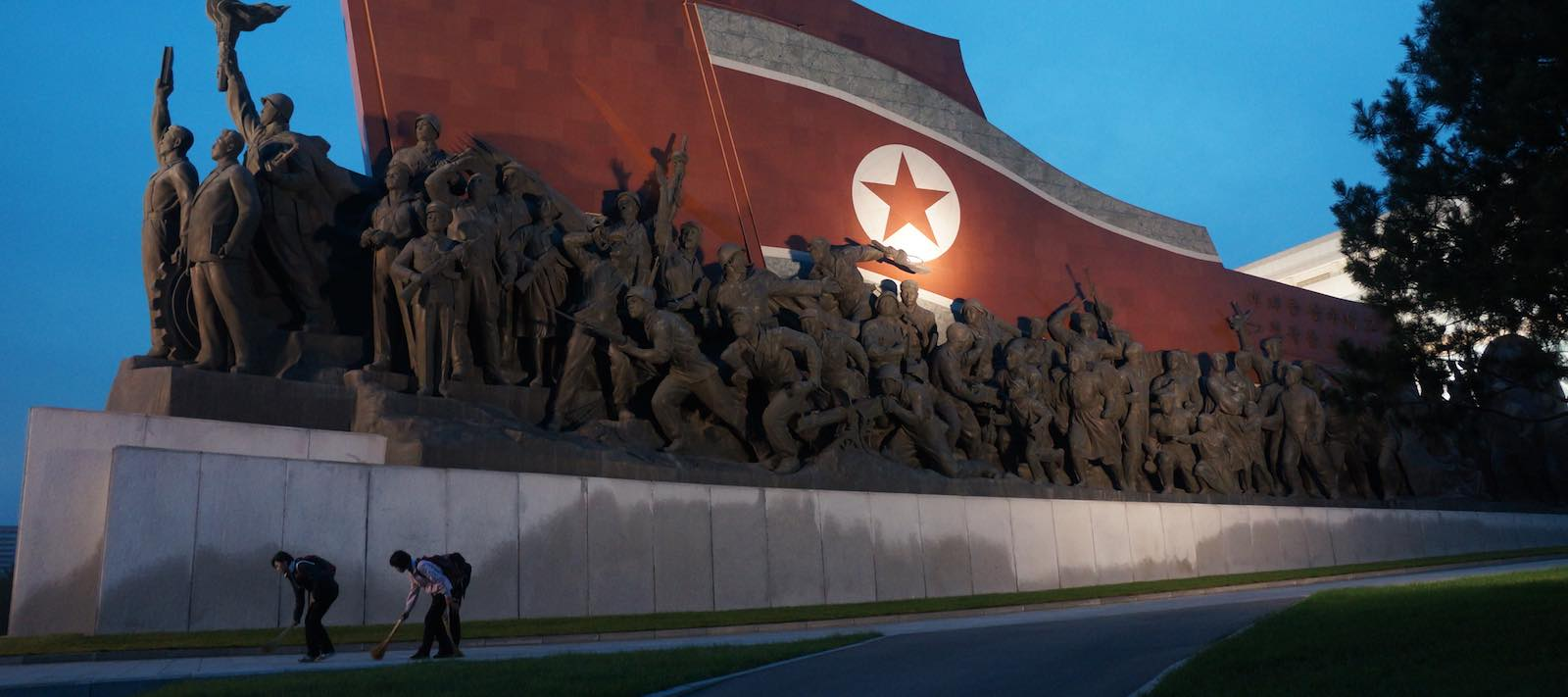 Mansudae Grand Monument, Pyongyang, North Korea (Photo: Wikimedia Commons)
