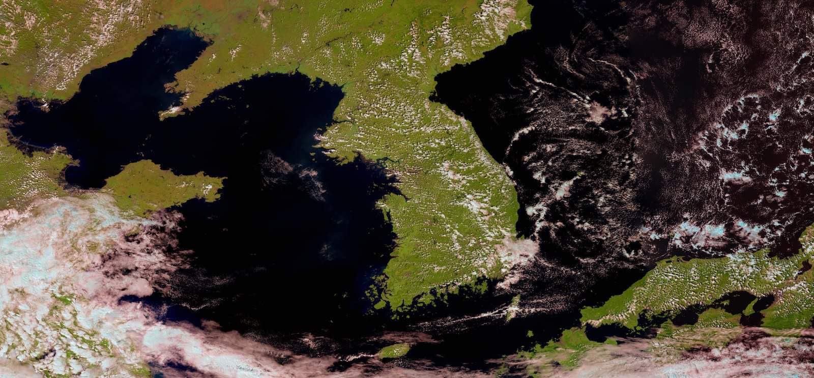 Suomi-NPP satellite image of East Asia (Photo via Stuart Rankin/Flickr)