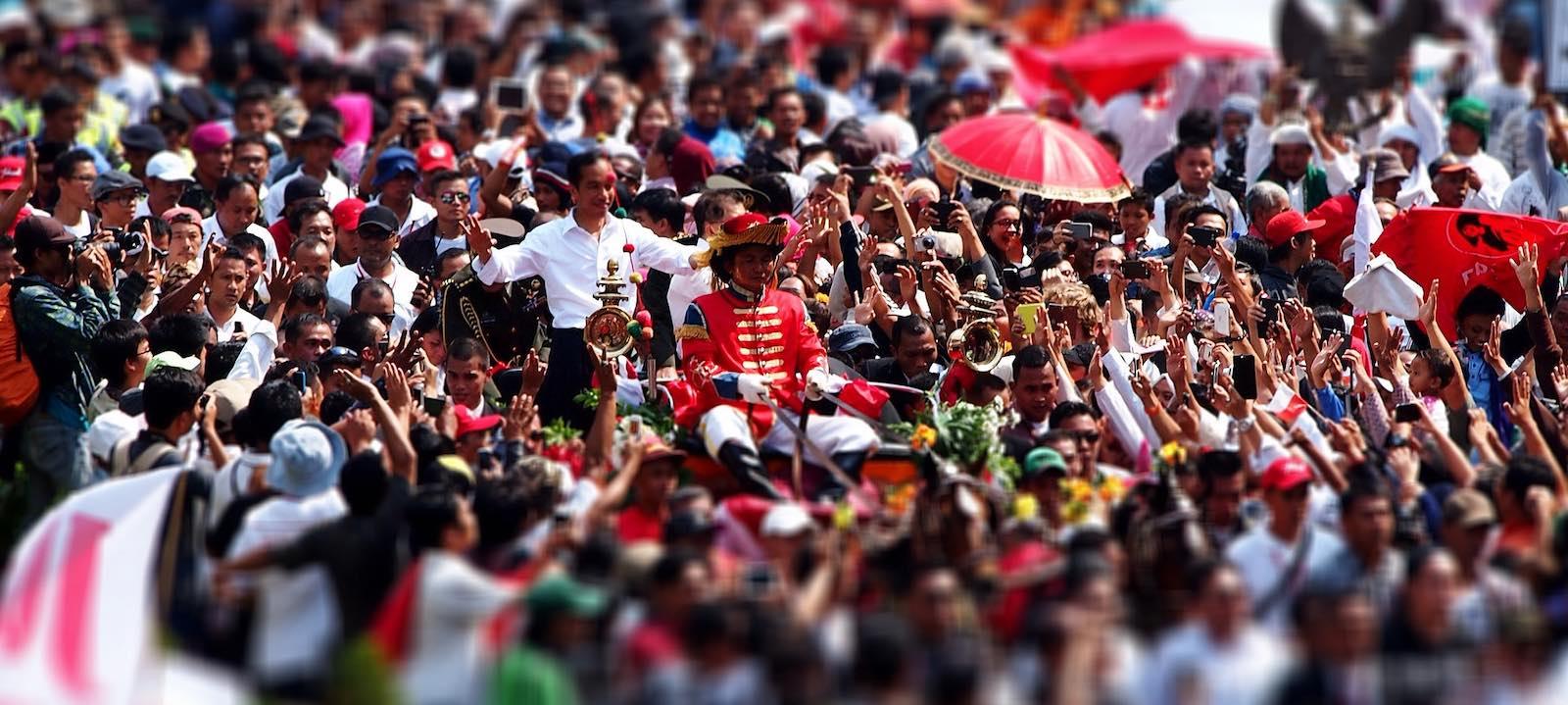 The 2014 inauguration of Joko Widodo (Photo: Kreshna Aditya 2012/Flickr)