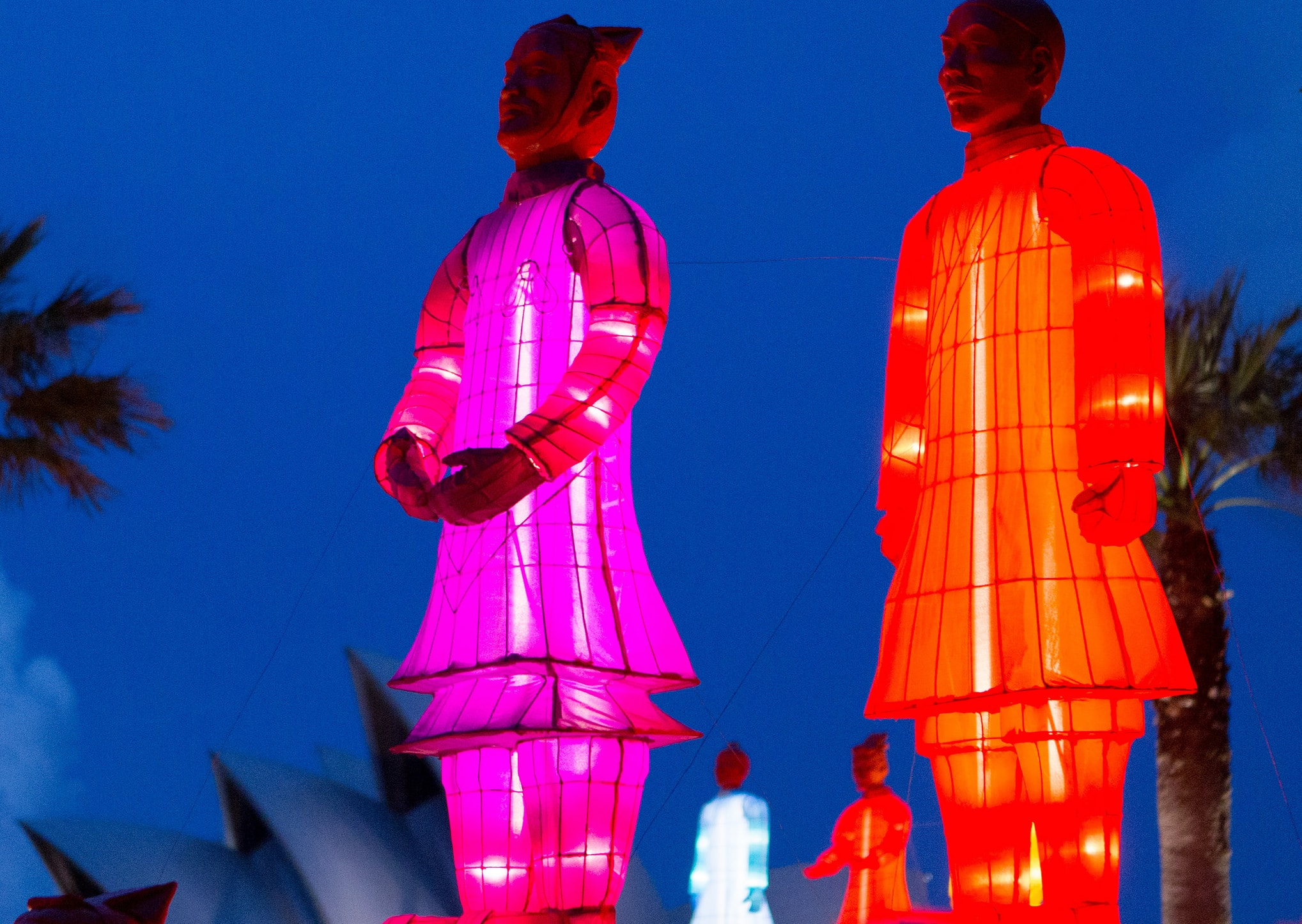 Lanterns shaped as Terracotta warriors in Sydney for Chinese New Year (Photo: Ashley/Flickr)