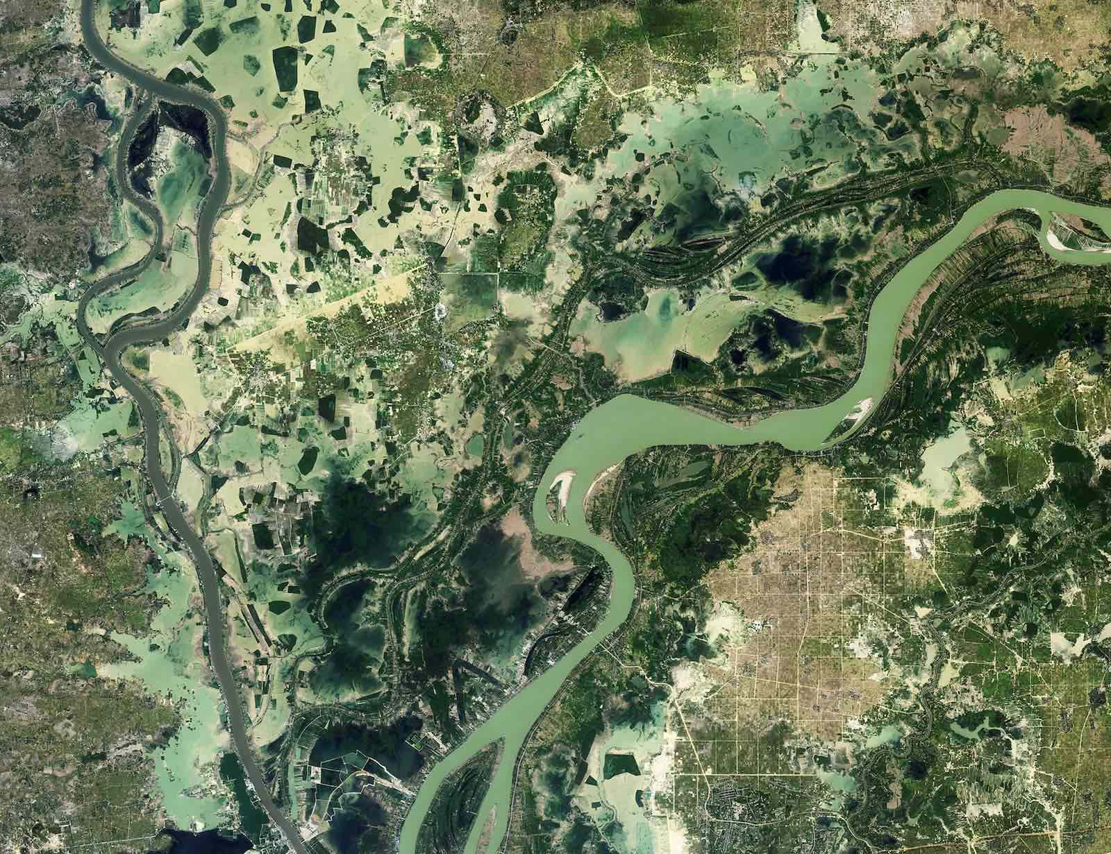 A section of the Mekong Delta (Photo: European Space Agency/Flickr)