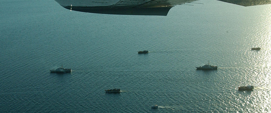 Foreign fishing vessels are escorted into Darwin (Photo: Department of Defence)