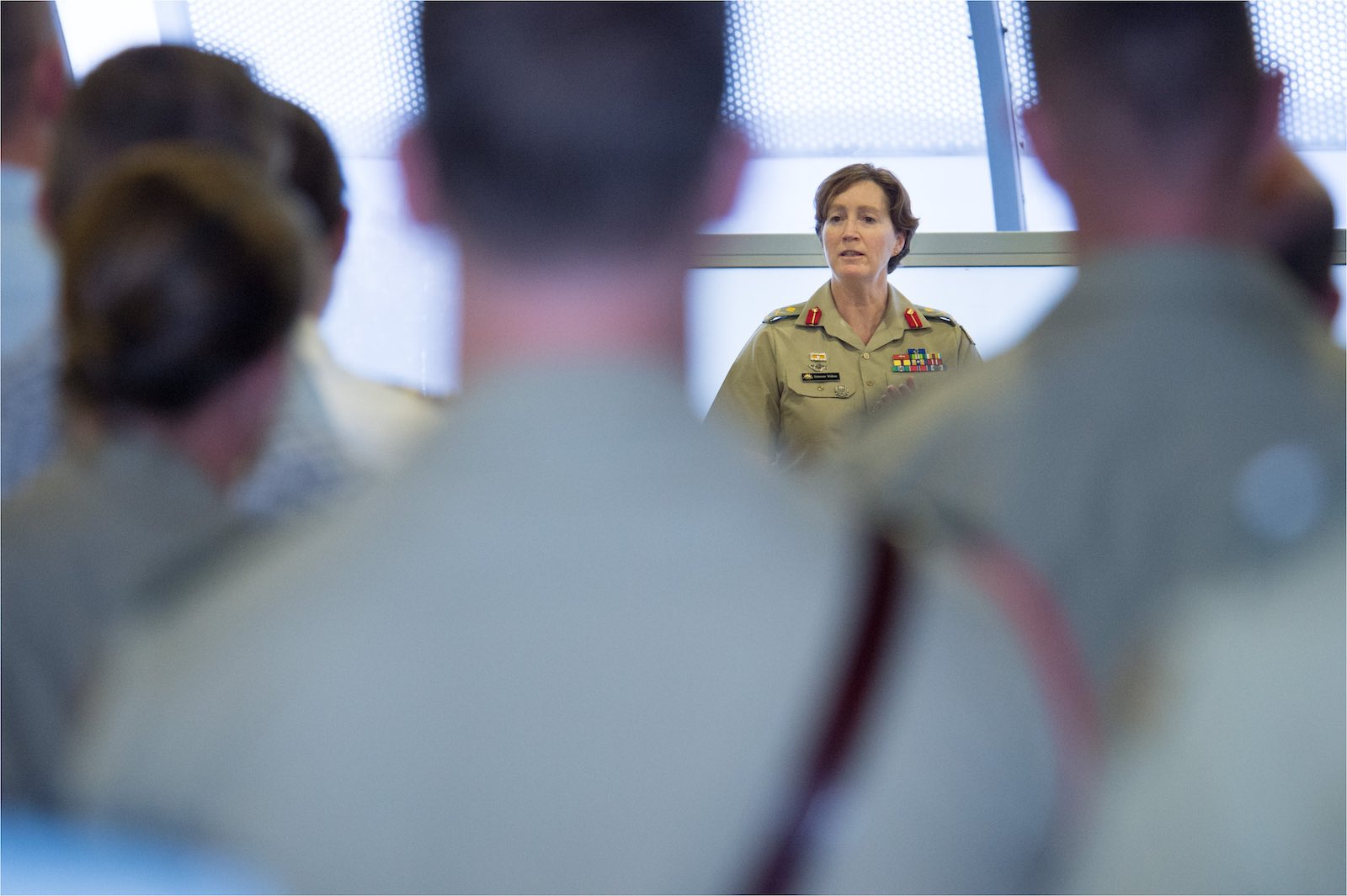 Major General Simone Wilkie addresses the Australian Defence Force Academy 2015 International Women's Day event (Photo: Defence Department)