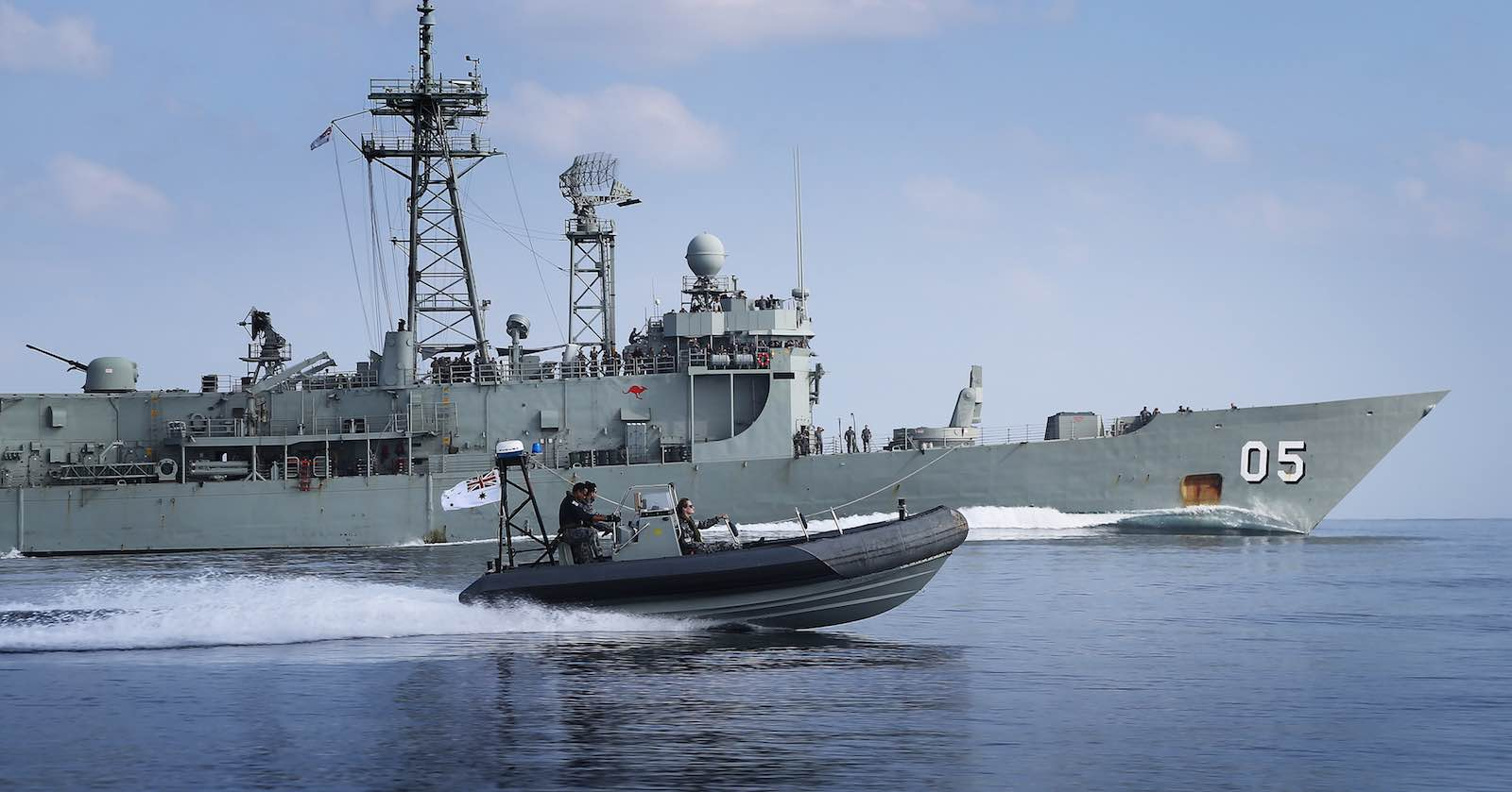 HMAS Melbourne during a deployment to the Persian Gulf in 2016 (Photo: Department of Defence)