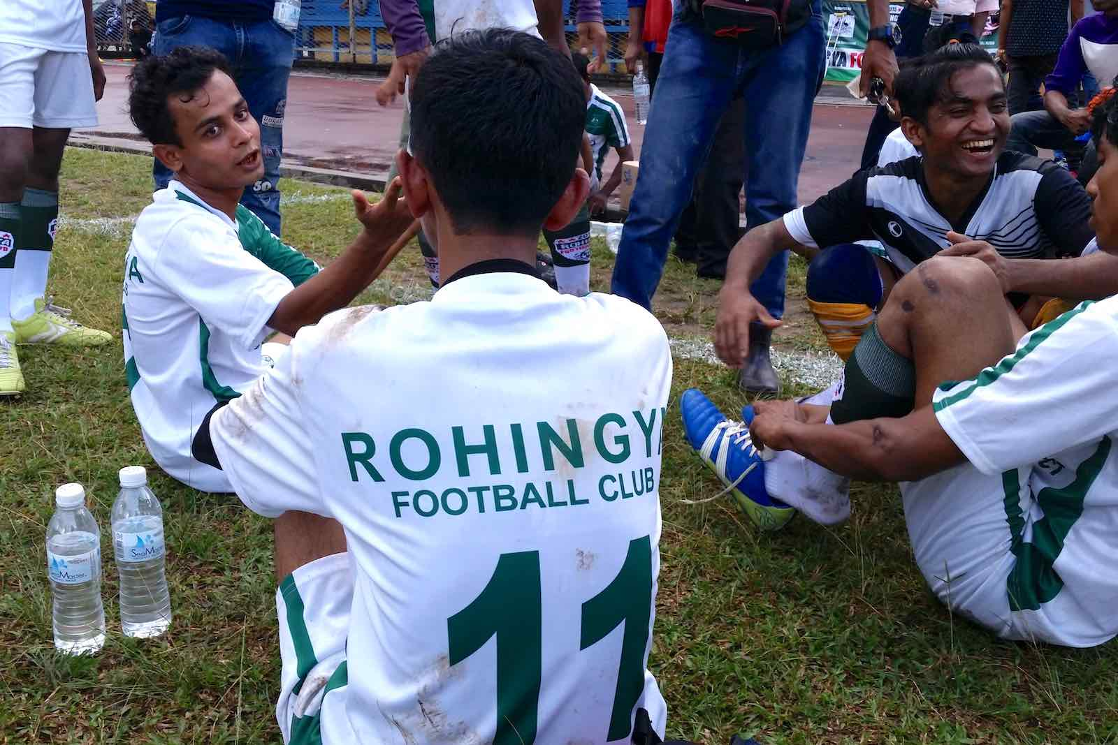 "The Kuala Lumpur–based Rohingya Football Club, made up of refugees and migrants fleeing persecution in Myanmar, is recognised as the ""Rohingya National Football Team"" (Photos by James Rose)"