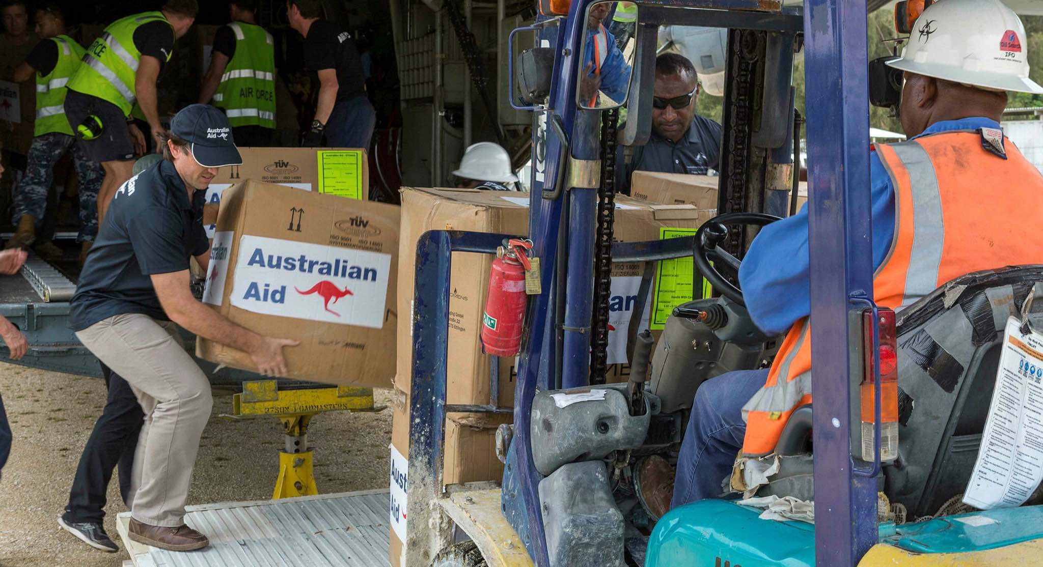Disaster relief supplies from Australia arrive in PNG (Photo: Defence Department)