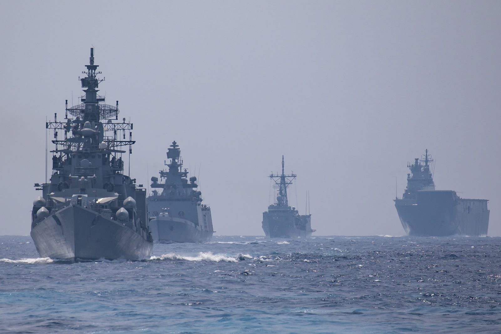 The Royal Australian Navy task group visiting India for AUSINDEX 2019 (Photo: Department of Defence)
