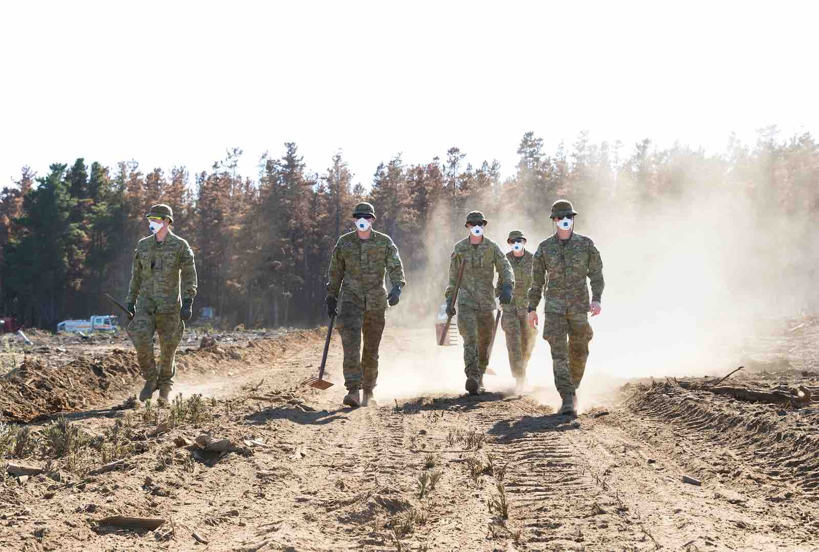 Soldiers from the Royal Australian Artillery assist in preventing the reignition of bushfires on Kangaroo Island in January, as part of Operation Bushfire Assist 2019-2020 (Photo: Australian Defence Force)