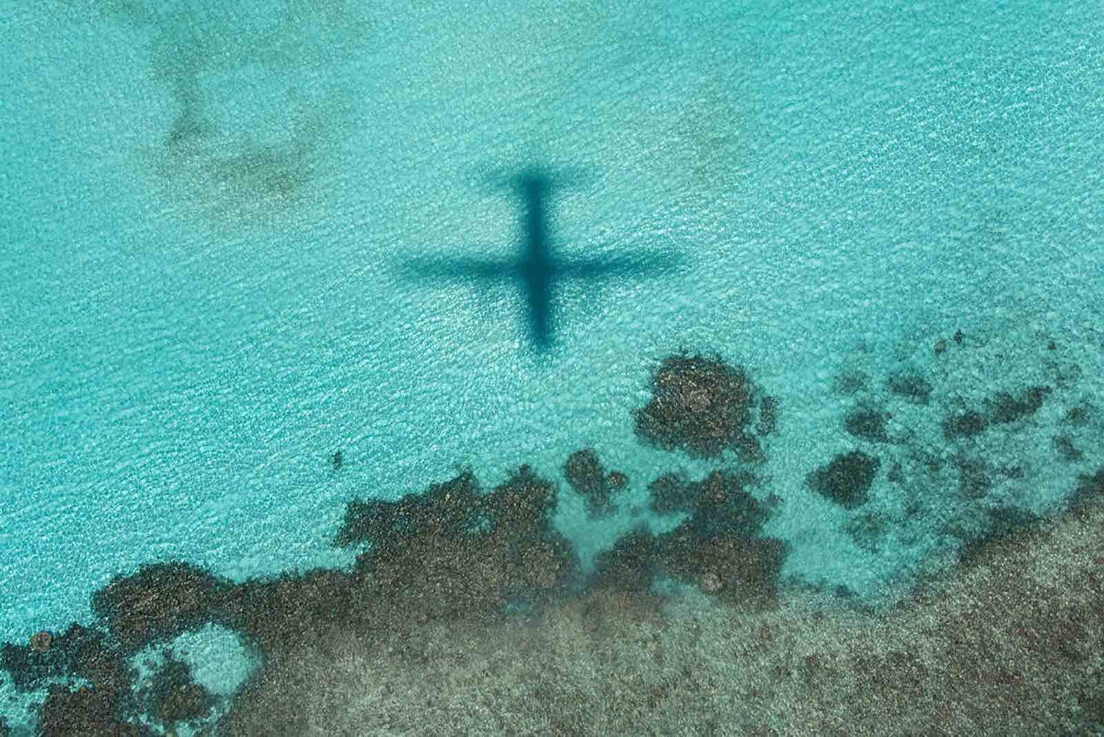 RAAF C-27J Spartan aircraft flying over the  Solomon Islands as part of Operation Solania, March 2020 (Department of Defence)