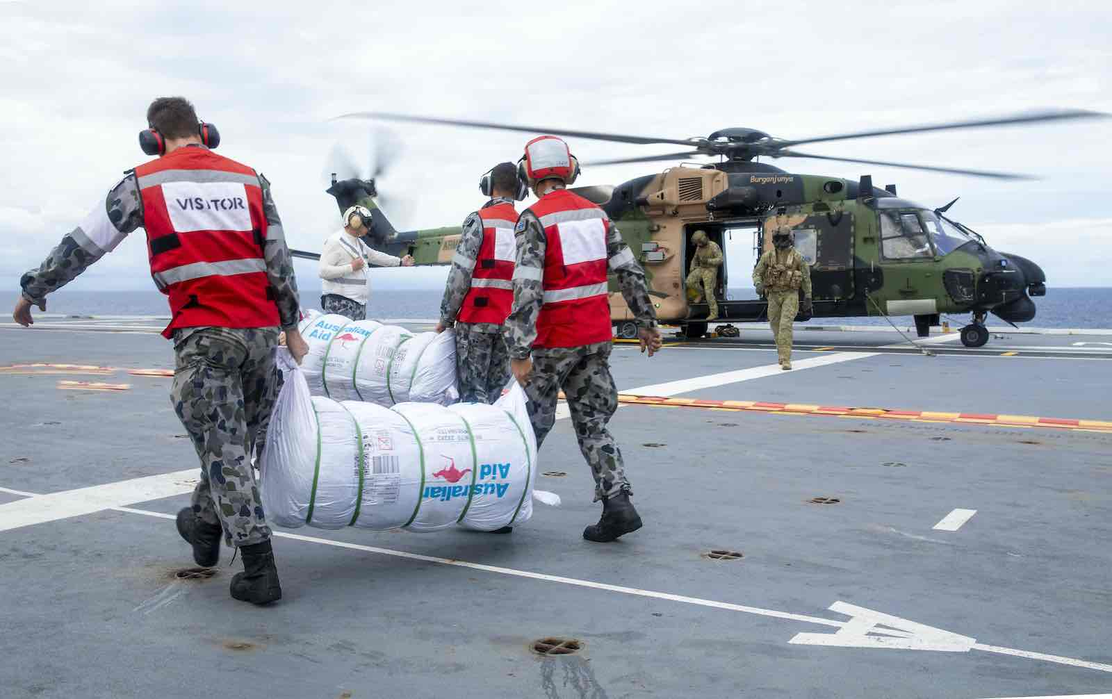 Relief supplies bound for Nabouwalu on the island of Vanua Levu, Fiji in January 2021 (Department of Defence)