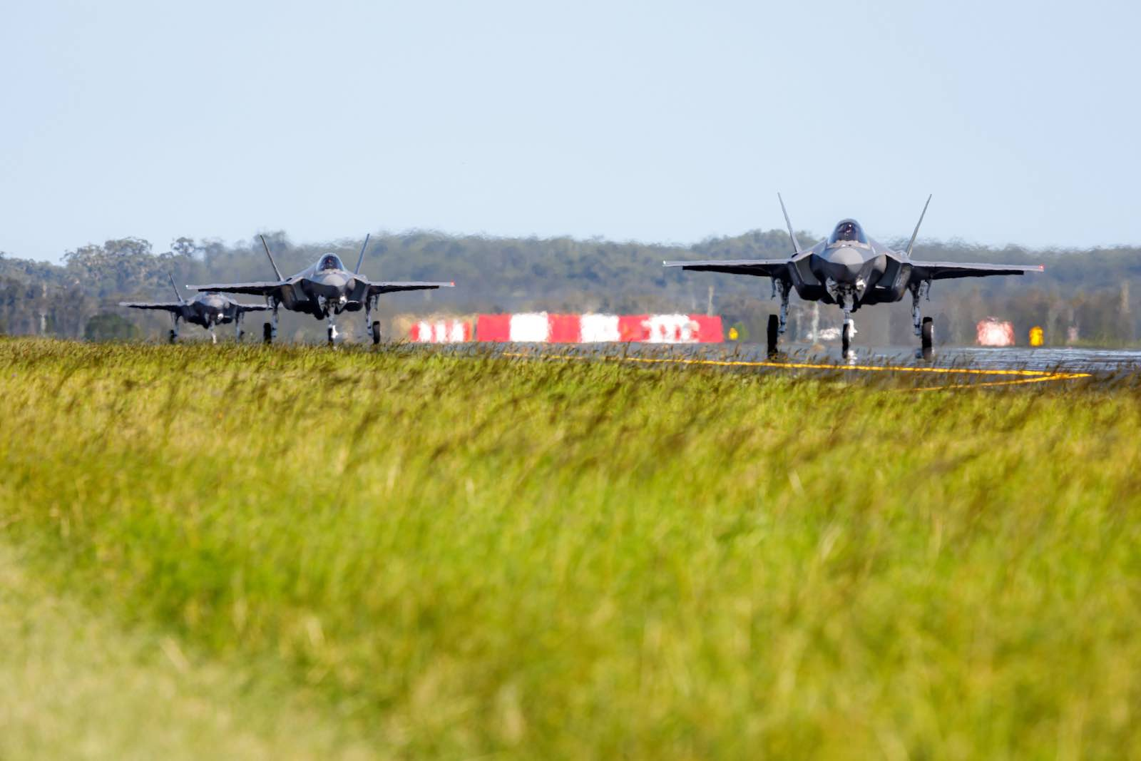 F-35A Lightning II aircraft at RAAF Base Williamtown, February 2021 (Department of Defence)