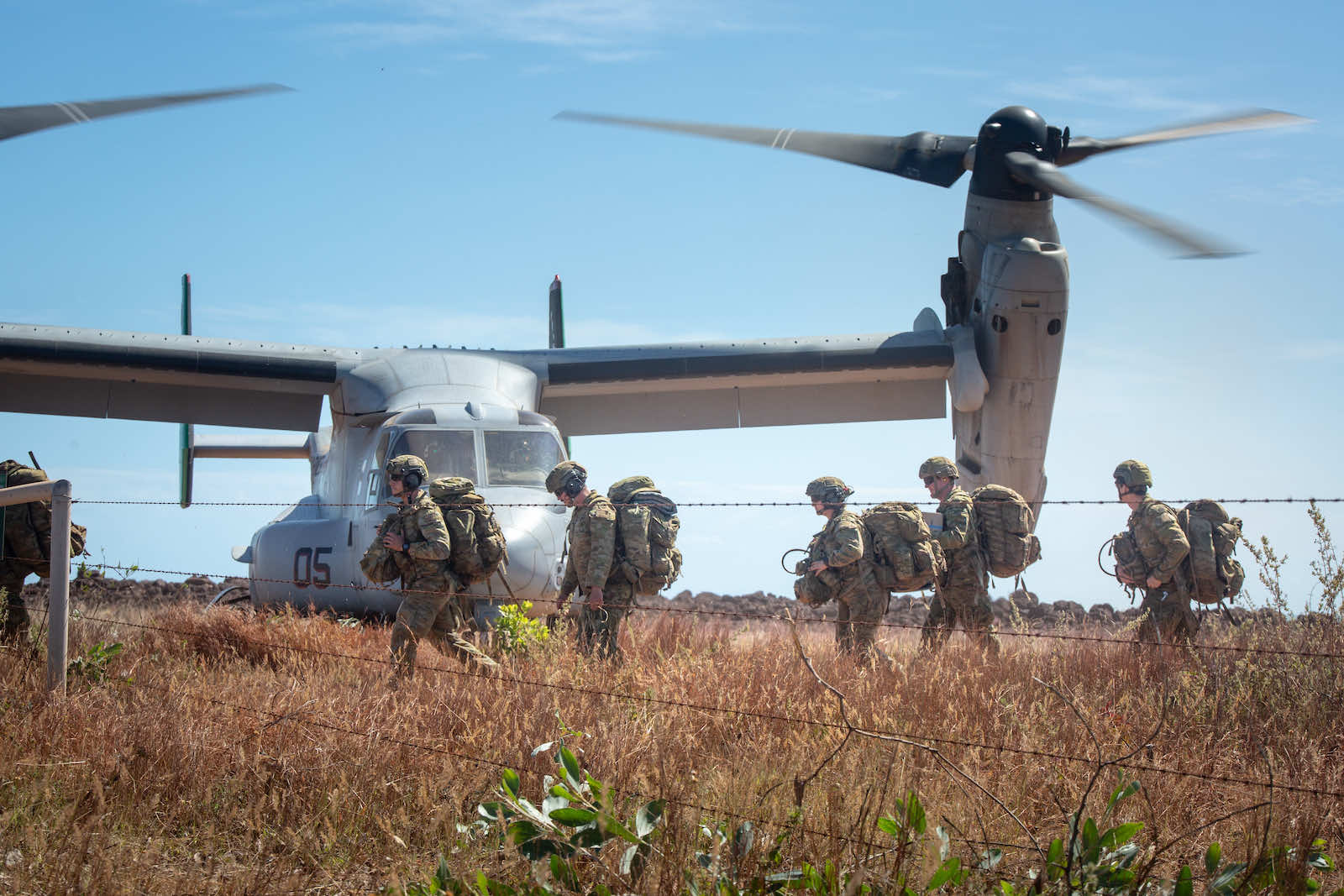Australian soldiers during training with US Marines near Darwin in May (Department of Defence)