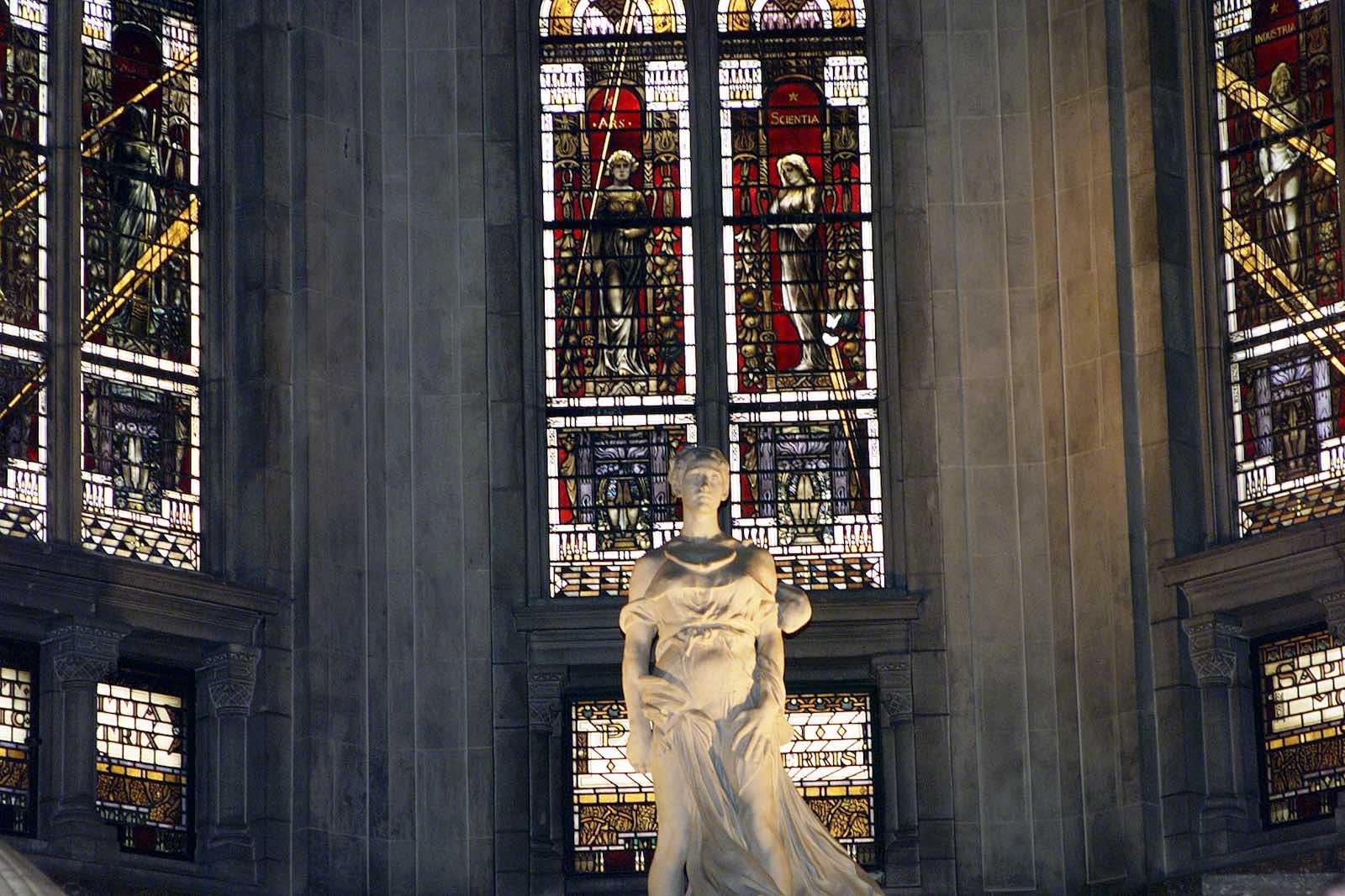 Interior of the Peace Palace, The Hague (Photo: Evan Schneider/UN)