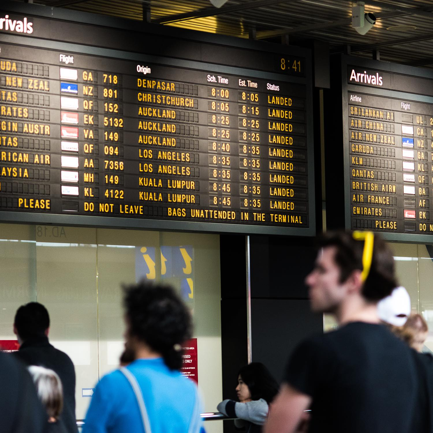 Arrivals hall, Melbourne airport (Photo: Alex Steffler/Flickr)