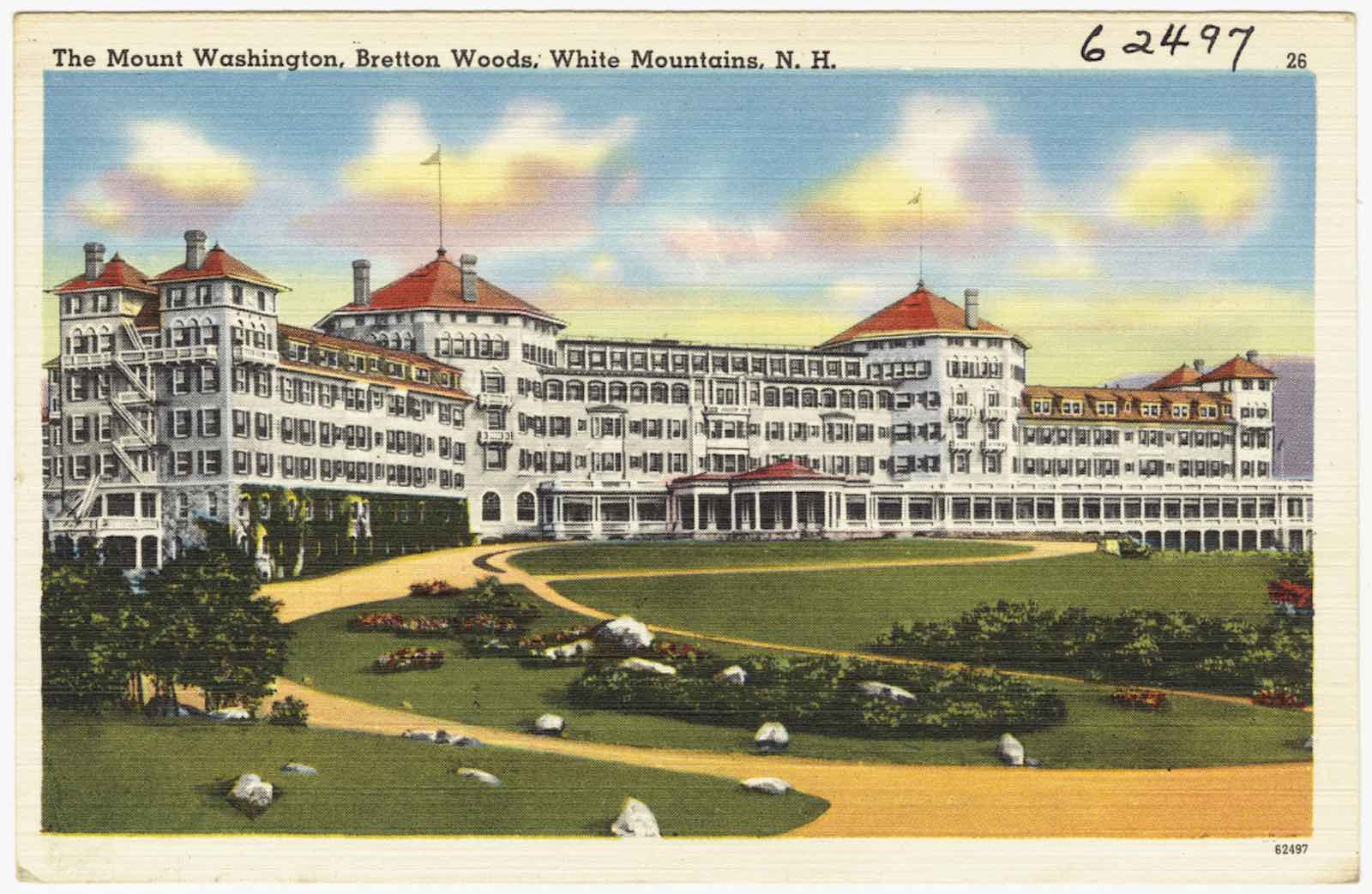 Mount Washington Hotel in Bretton Woods, New Hampshire, USA (Boston Public Library/Flickr)