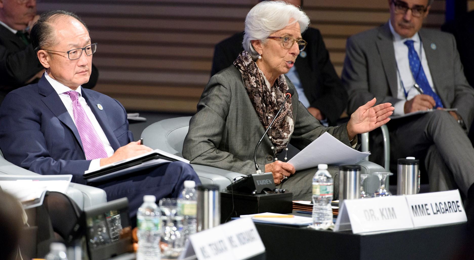World Bank President Jim Yong Kim and IMF Managing Director Christine Lagarde, October 2017 (Photo: World Bank/Flickr)