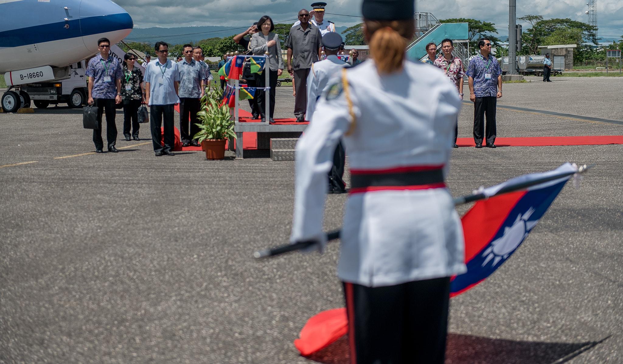 Taiwan's President Tsai Ing-wen arrives in Solomon Islands in November (Photo: Taiwan Presidential office/Flickr)