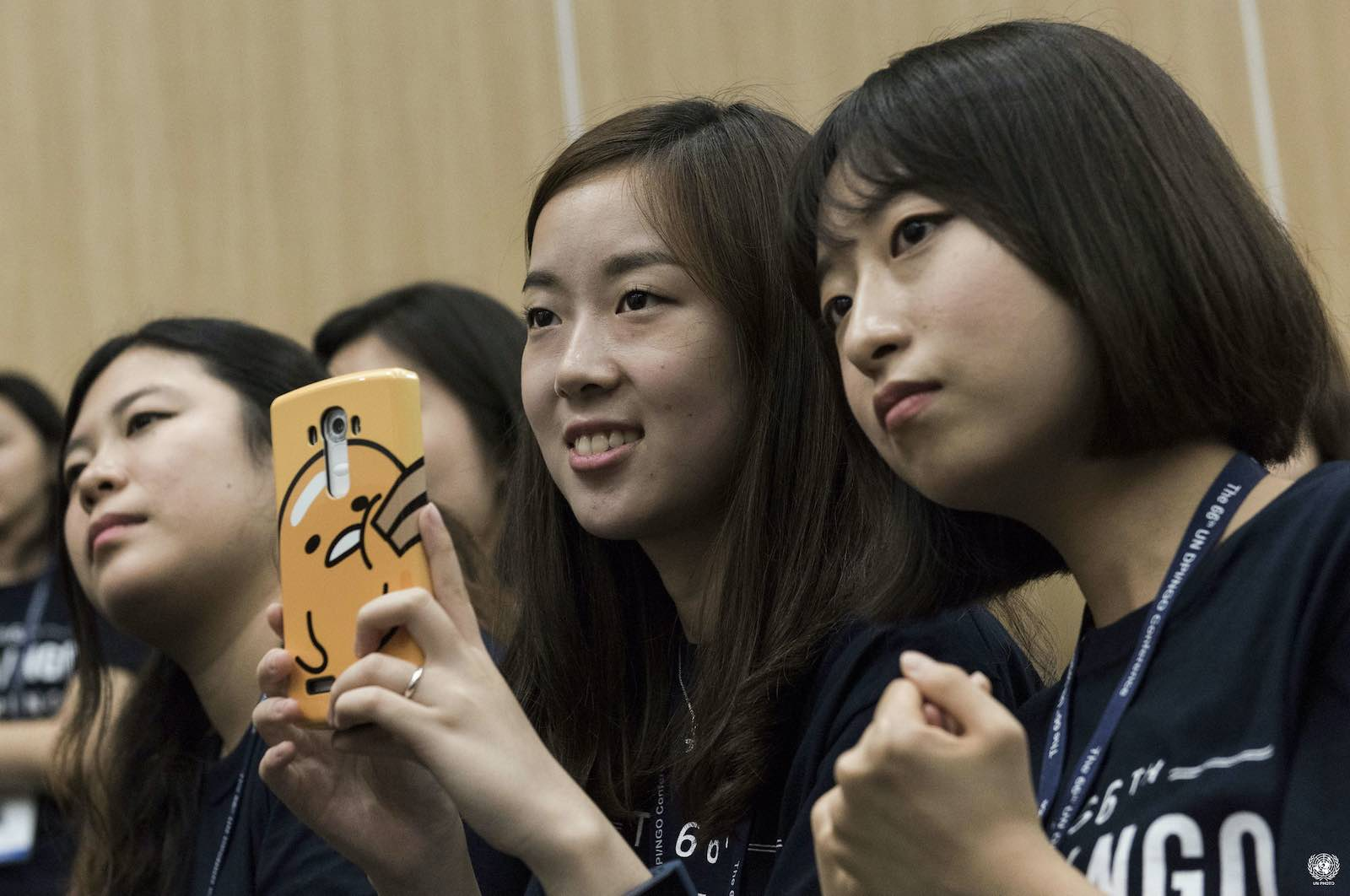 Young people make up 60% of the Asia-Pacific population (Mark Garten/UN Photo)