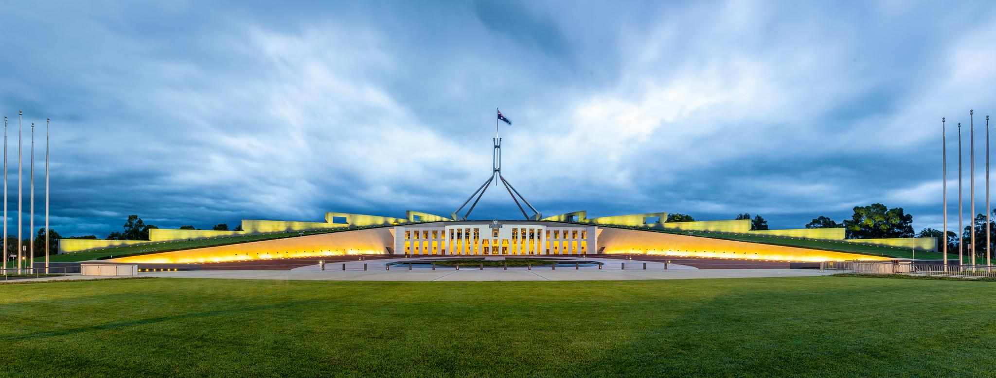 Australian Parliament House (Photo: Flickr user russellstreet)