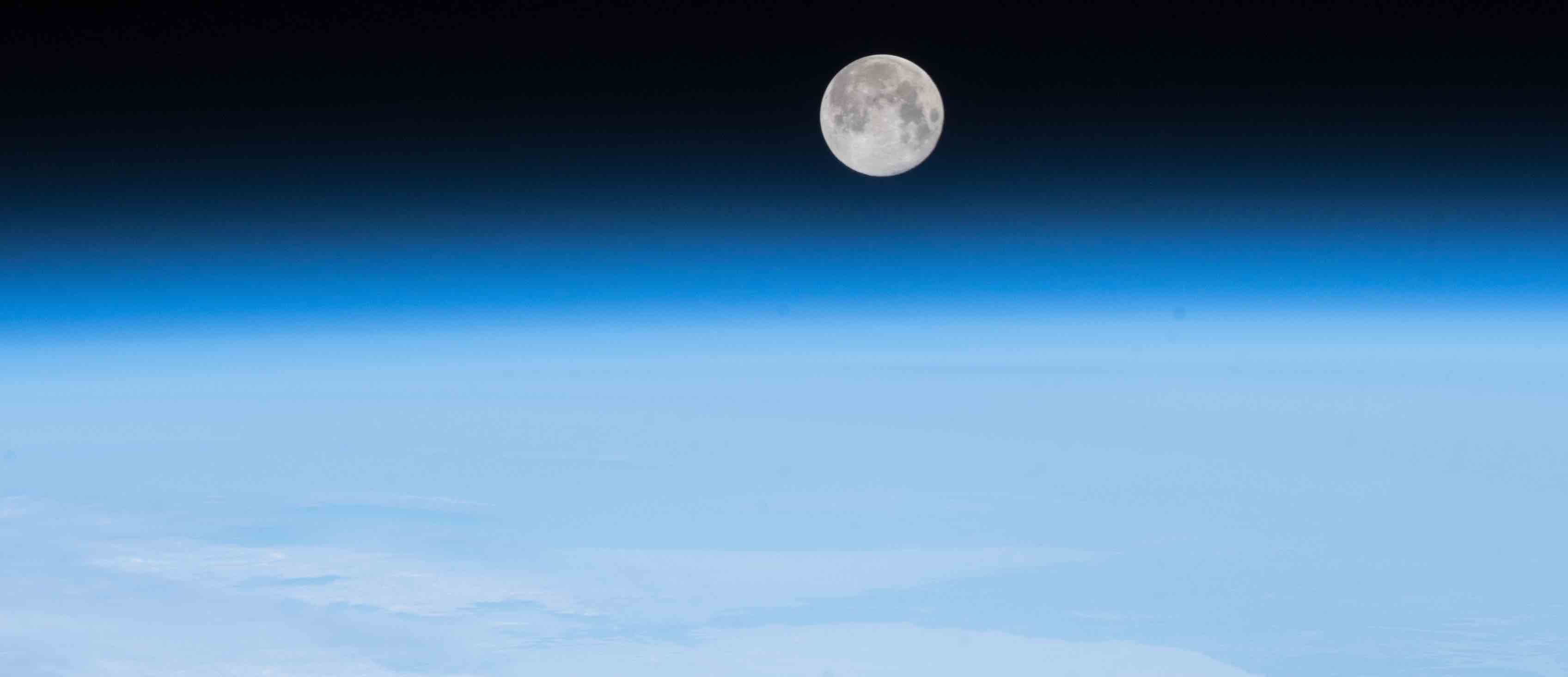 The Moon above the North Atlantic Ocean (Photo: NASA via Stuart Rankin/Flickr)