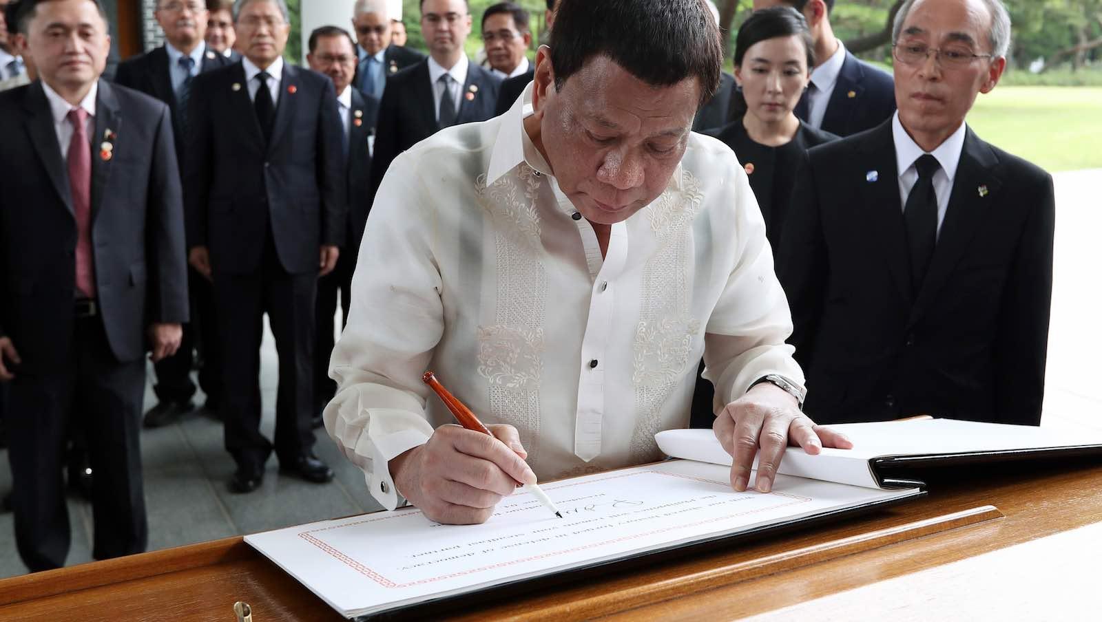 Philippines President Rodrigo Duterte during a visit this month to South Korea (Photo: KoreaNet/Flickr)