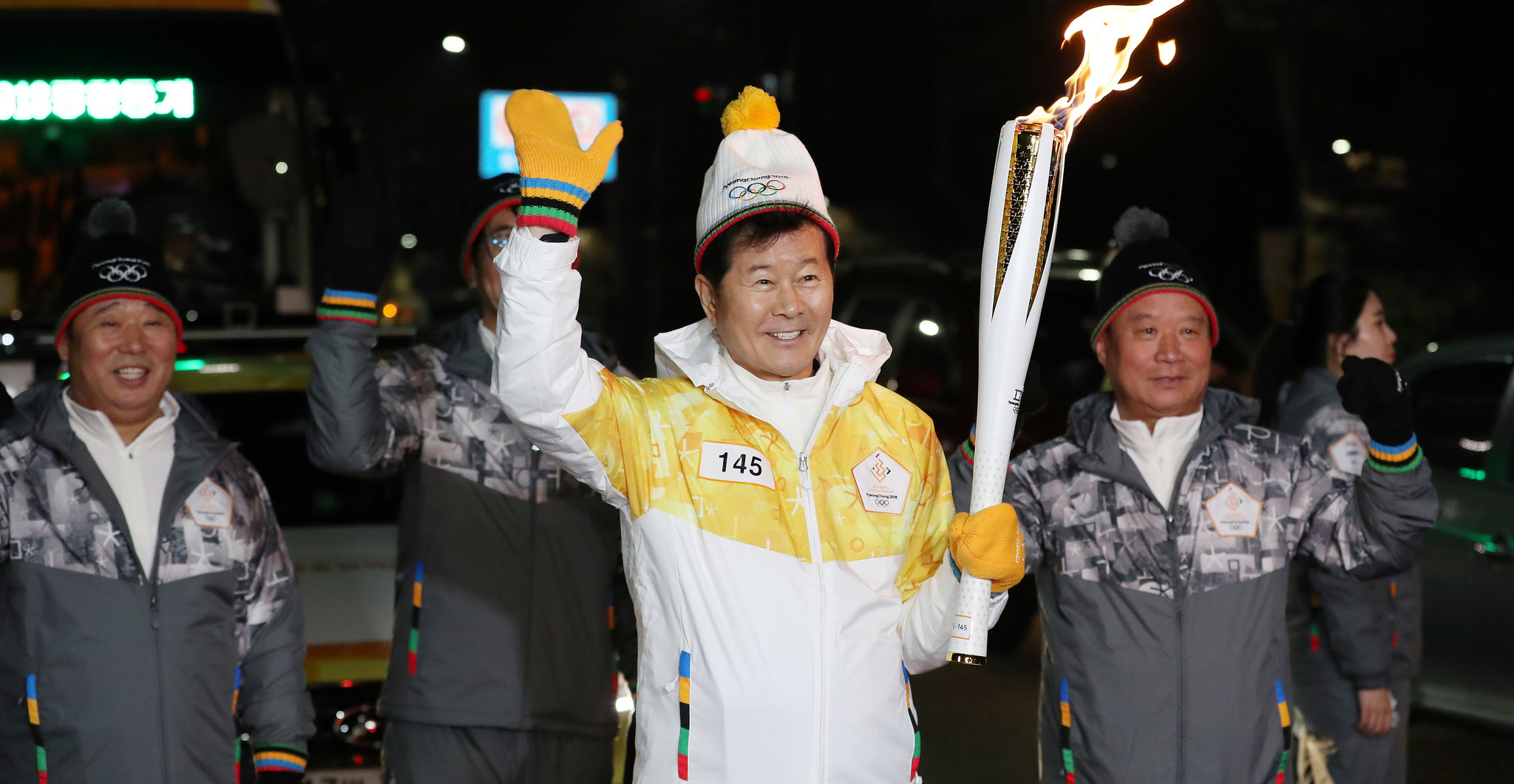 The torch relay in Seoul ahead of the PyeongChang Winter Olympic Games next month (Photo: Republic of Korea/Flickr)