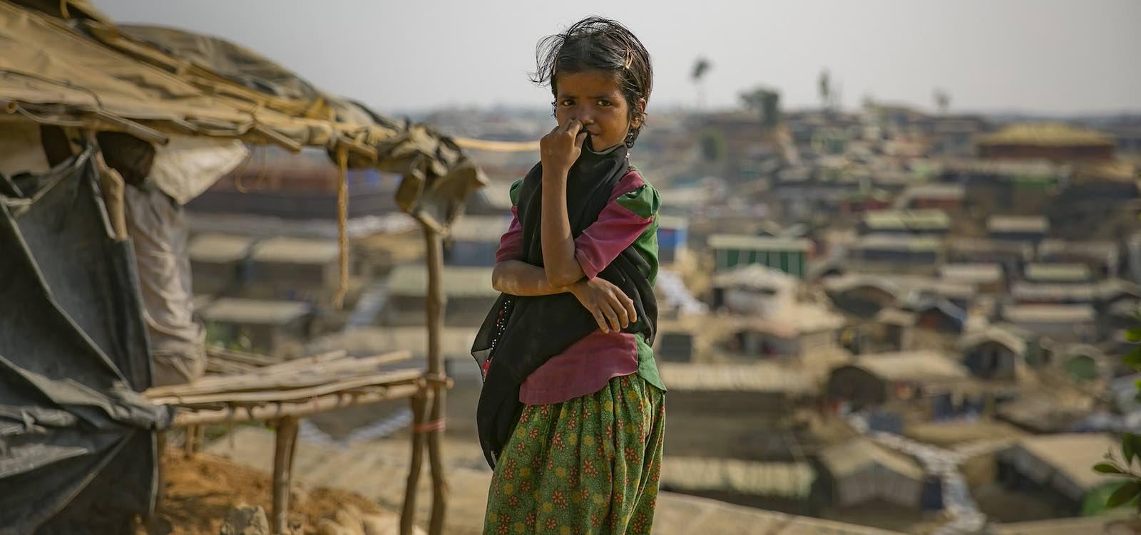 A refugee camp for Rohingya in Cox's Bazar, Bangladesh, in March (Photo: Allison Joyce/UN Women)