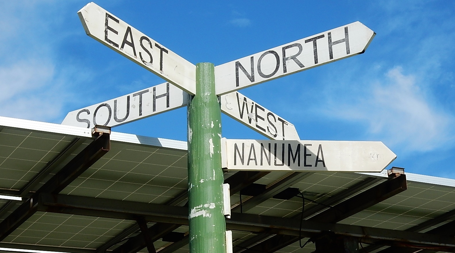 Signposts in Tuvalu (Photo: Michael Coghlan/Flickr)