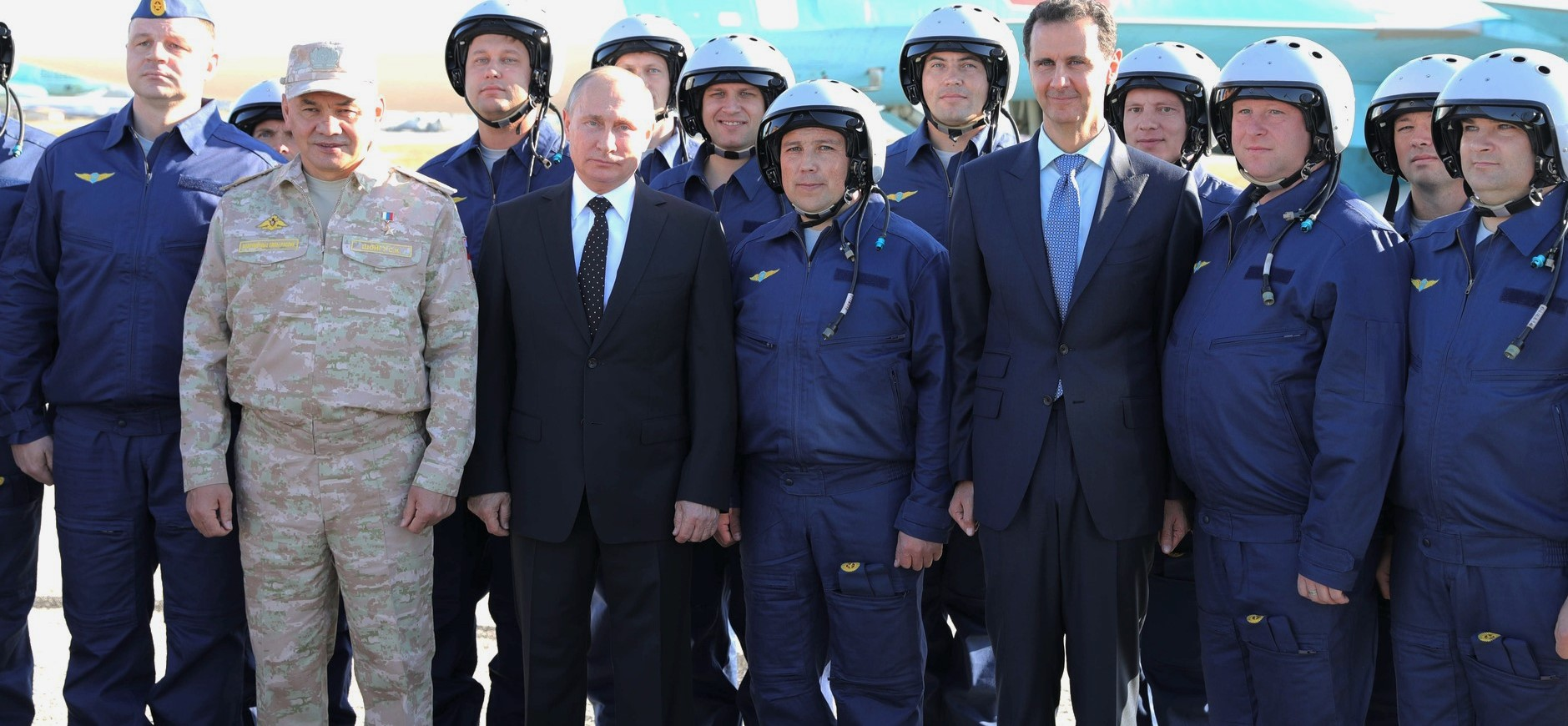 Russian President Vladimir Putin and Syrian President Bashar al-Assad at the Khmeimim air base in Syria, December 2017 (Photo: Kremlin.ru)