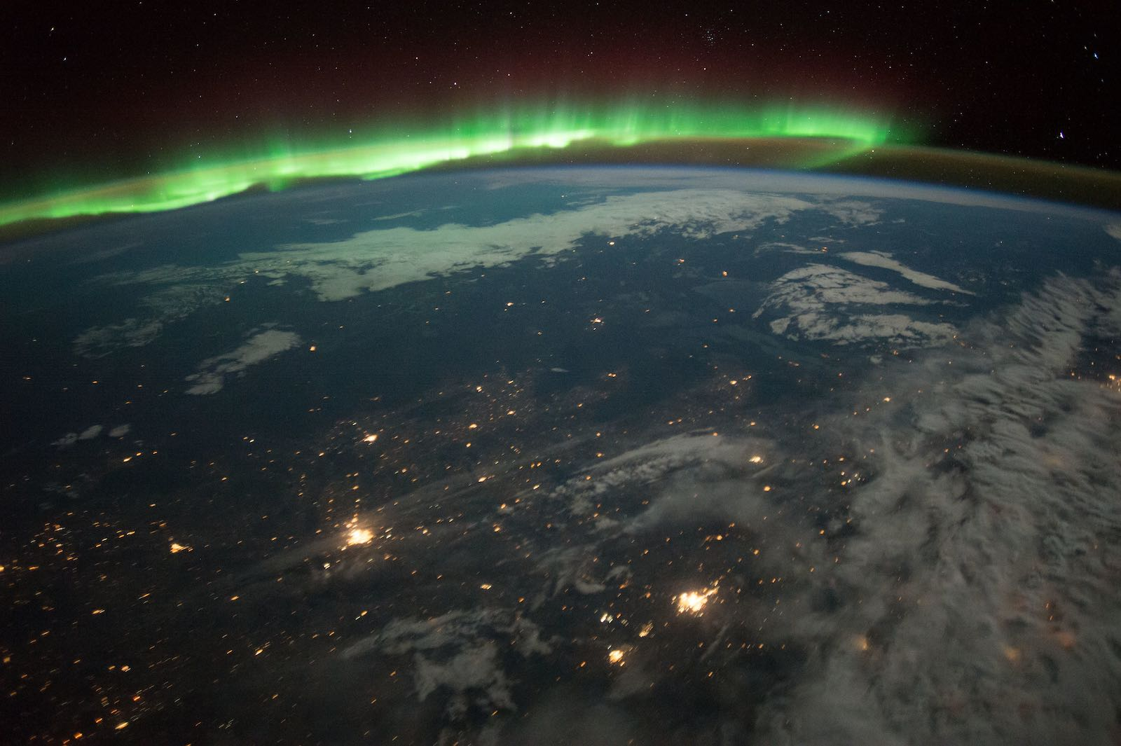 The Aurora Borealis seen from the International Space Center in 2016 (NASA/Flickr)