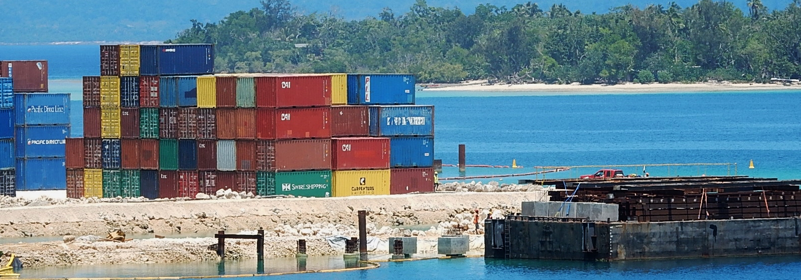 Containers in Port Villa (Photo: Michael Coghlan/Flickr)