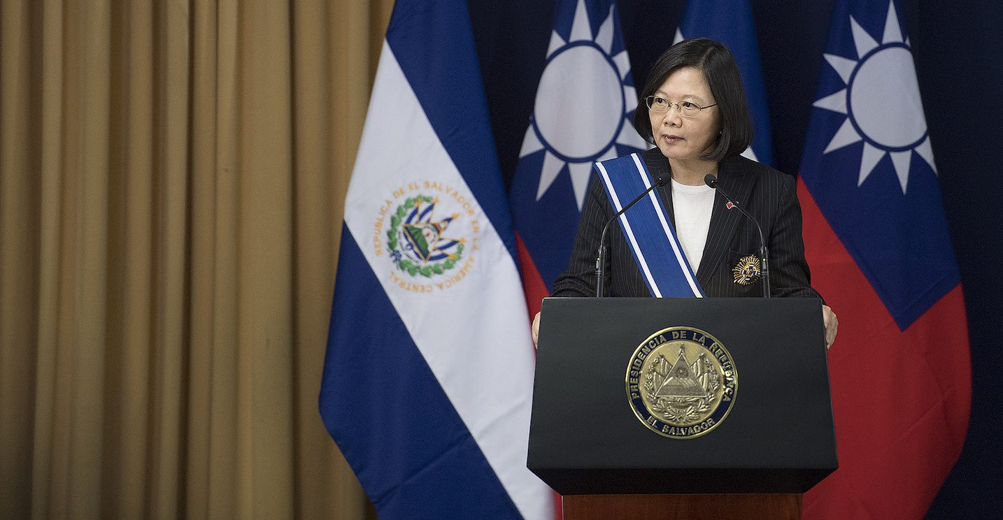 Taiwan's President Tsai Ing-wen during a visit to El Salvador in January 2017 (Photo: Taiwan Presidential Office/Flickr)