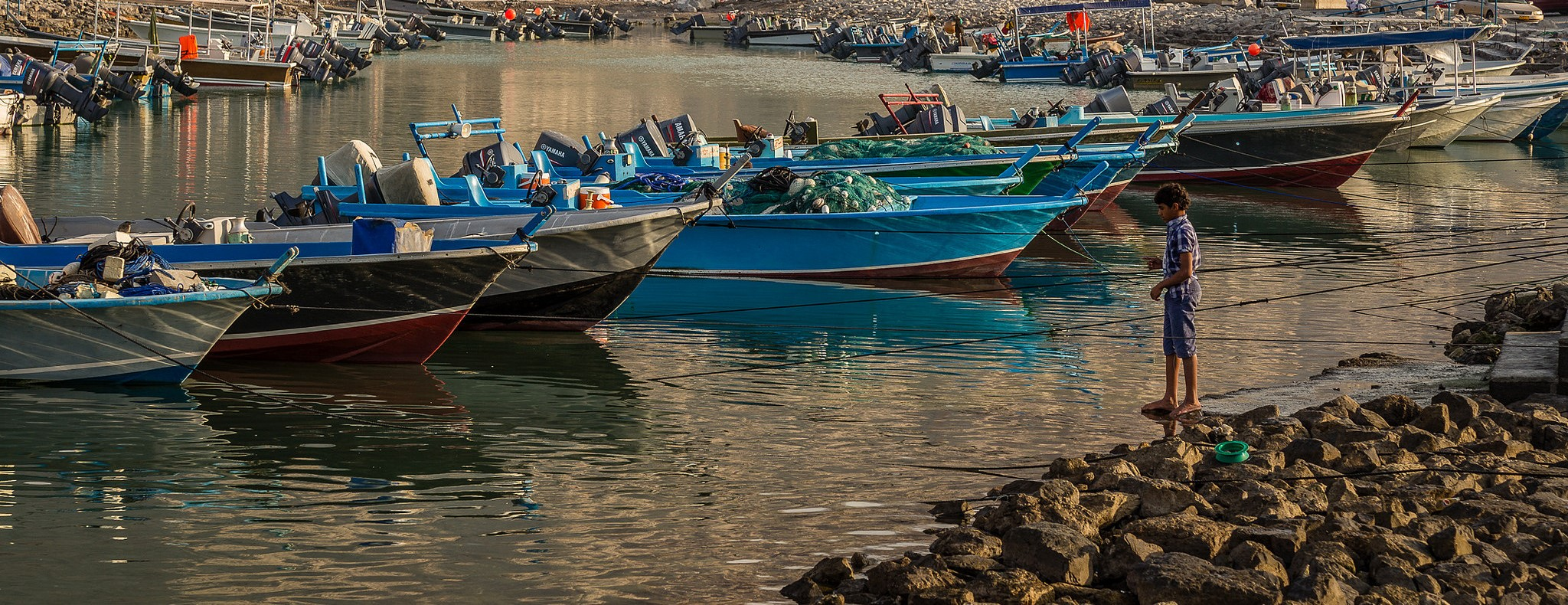 Boats in harbour at Khasab, Musandam, January 2017 (Photo: Phil Norton/Flickr)
