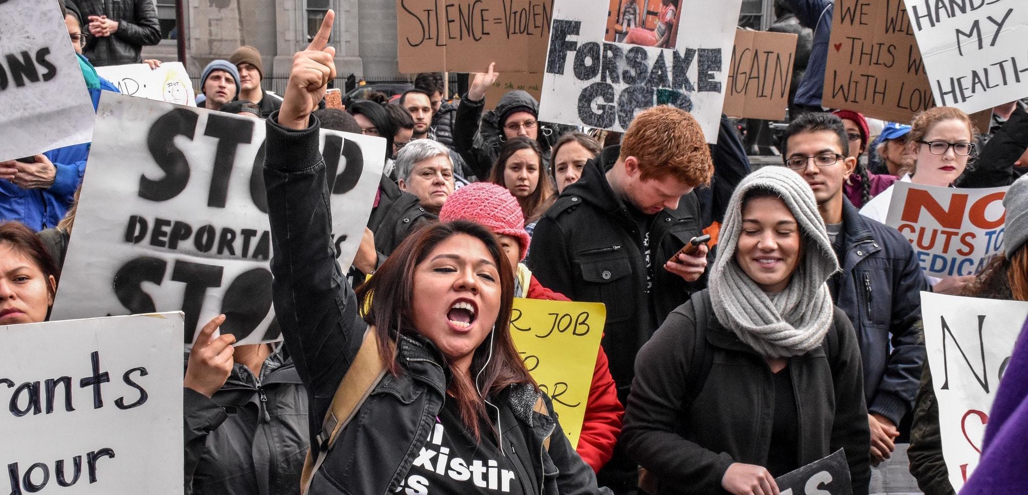 Protesters in Philadelphia in January (Photo: Joe Piette/Flickr)