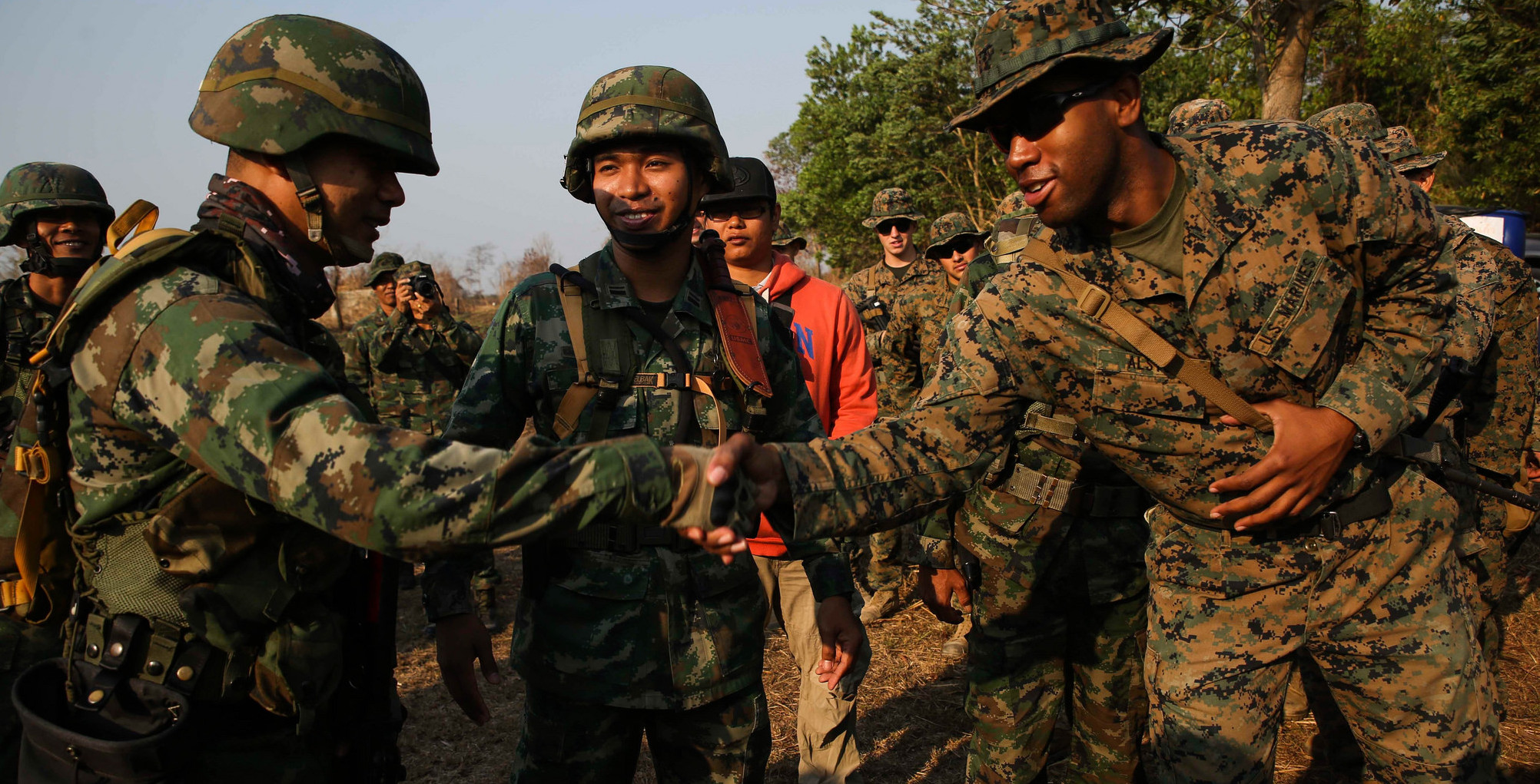US and Royal Thai Marines in a joint training exercise in February (Photo: US Pacific Command/Flickr)