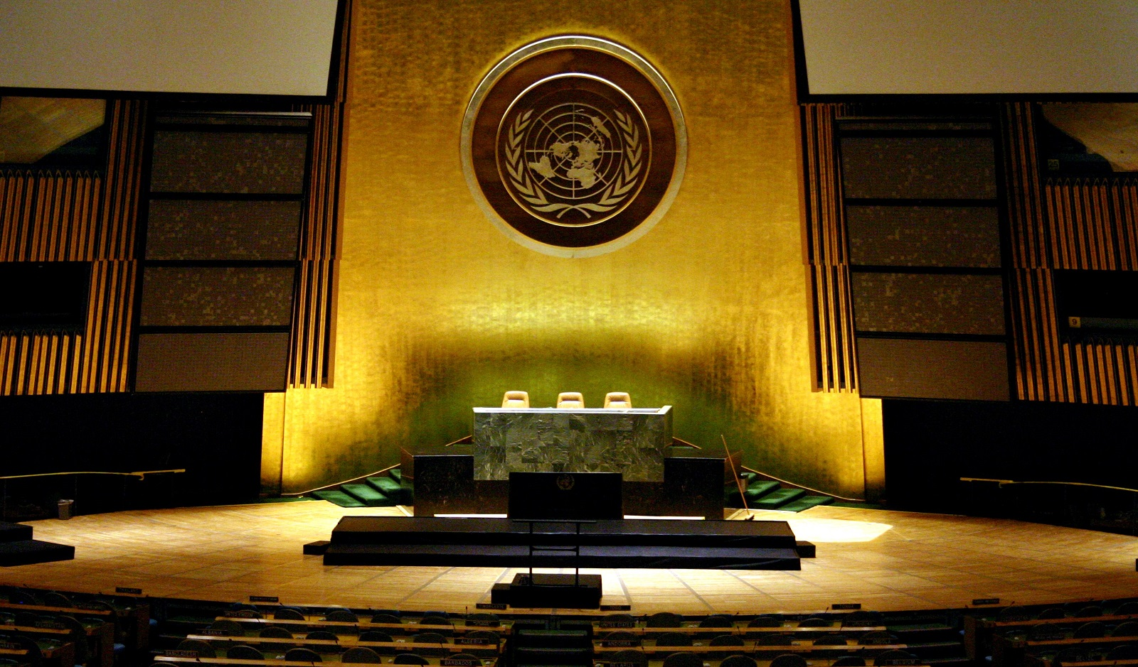 United Nations General Assembly hall at the UN Headquarters, New York City (Patrick Gruban/Flickr)