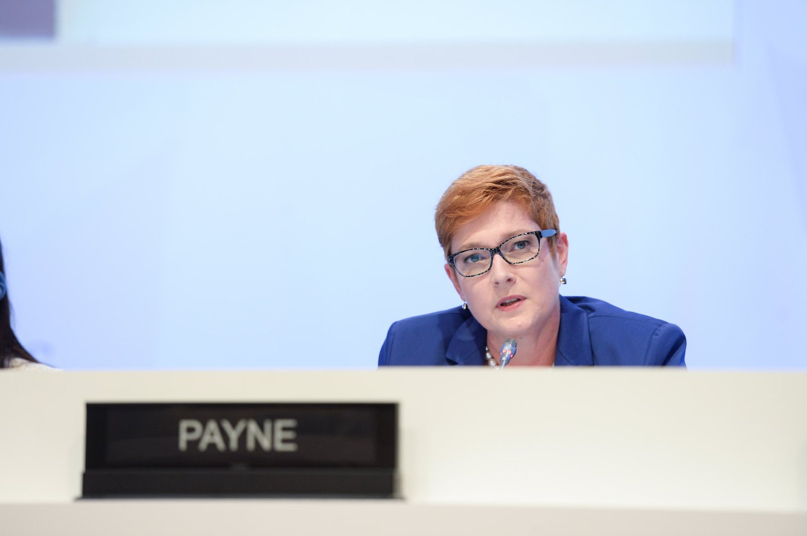 Safe pair of hands: Foreign Minister Marise Payne (Photo: IISS/Flickr)