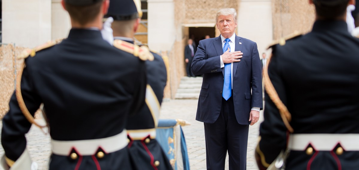 US President Donald Trump in France, July 2017 (Photo: Flickr/White House)