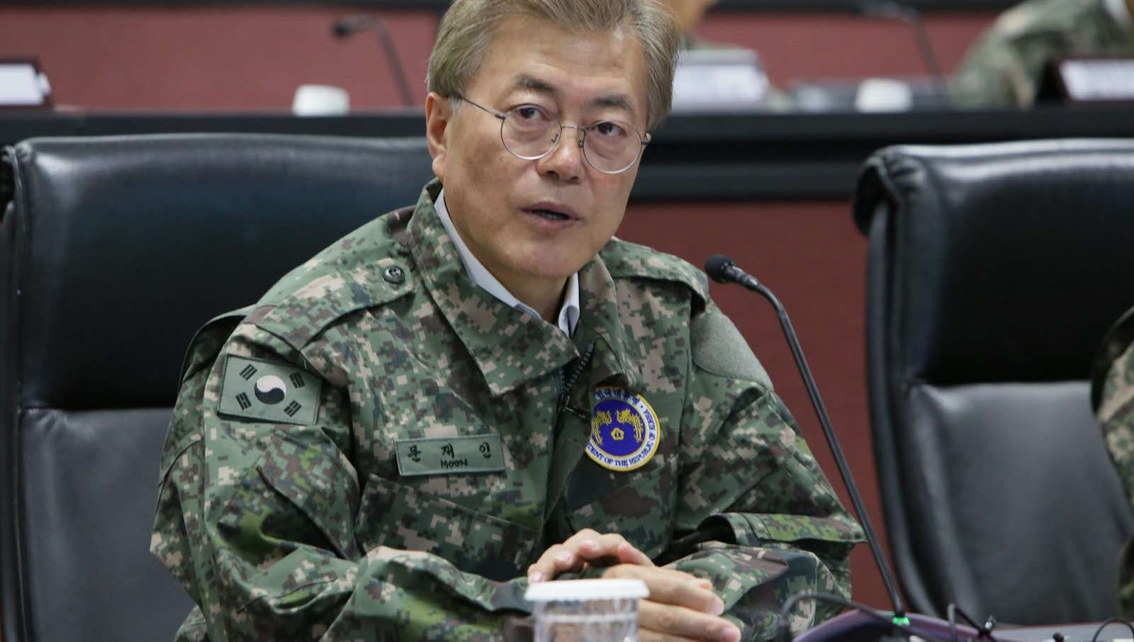 South Korean President Moon Jae-in during a visit to the US Army garrison at Yongsan in June 2017  (Photo: UNC - CFC - USFK/Flickr)