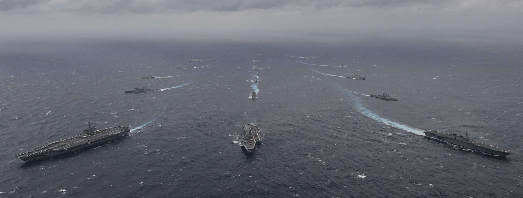 Malabar exercises in the Indian Ocean, June 2017 (Photo: Flickr/US Pacific Command)
