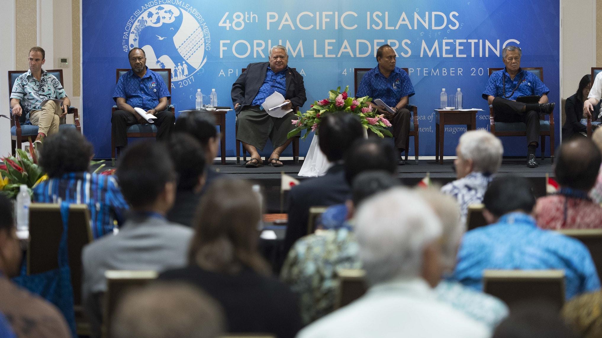 Opening the 2017 Pacific Island Forum Leaders Meeting, Apia, Samoa (Photo: US Embassy, Wellington/Flickr)