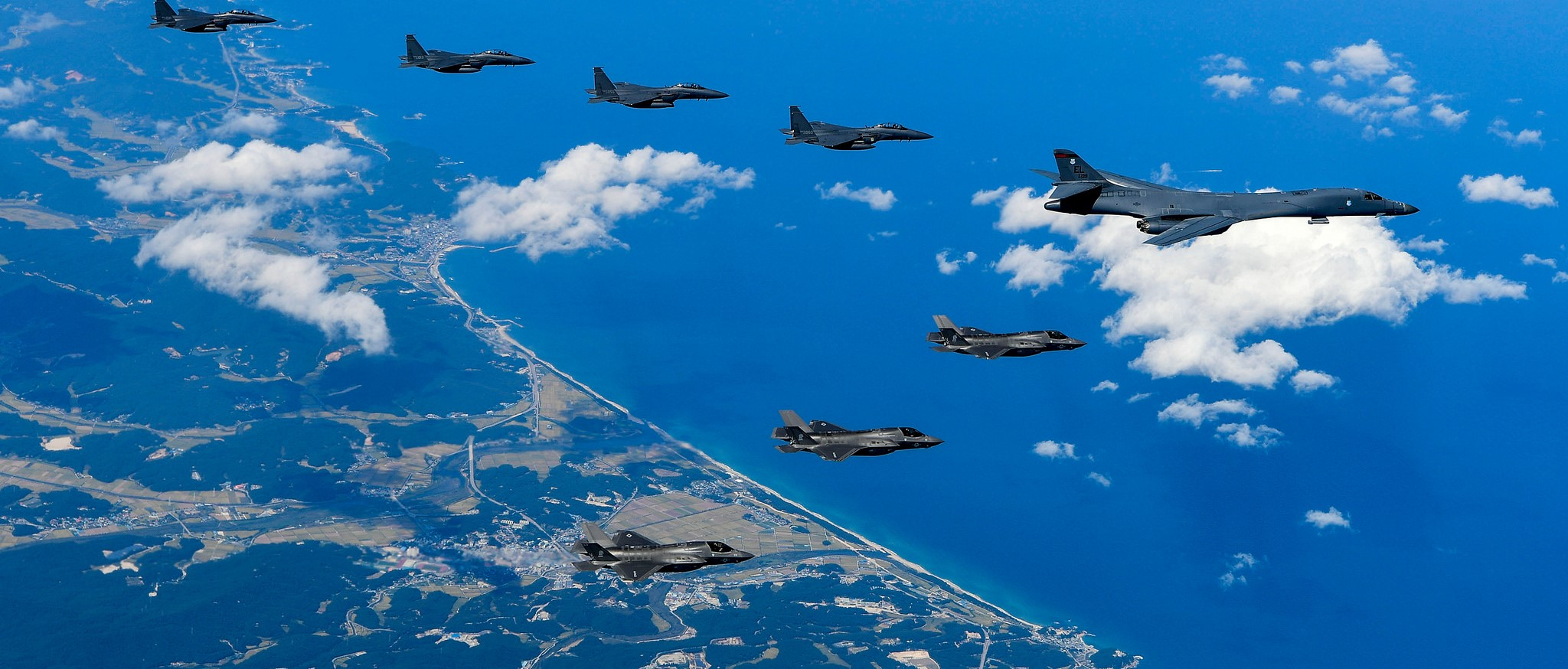 US and South Korean air forces conduct a mission over the Korean Peninsula, September 2017 (Photo: US Pacific Command/Flickr)