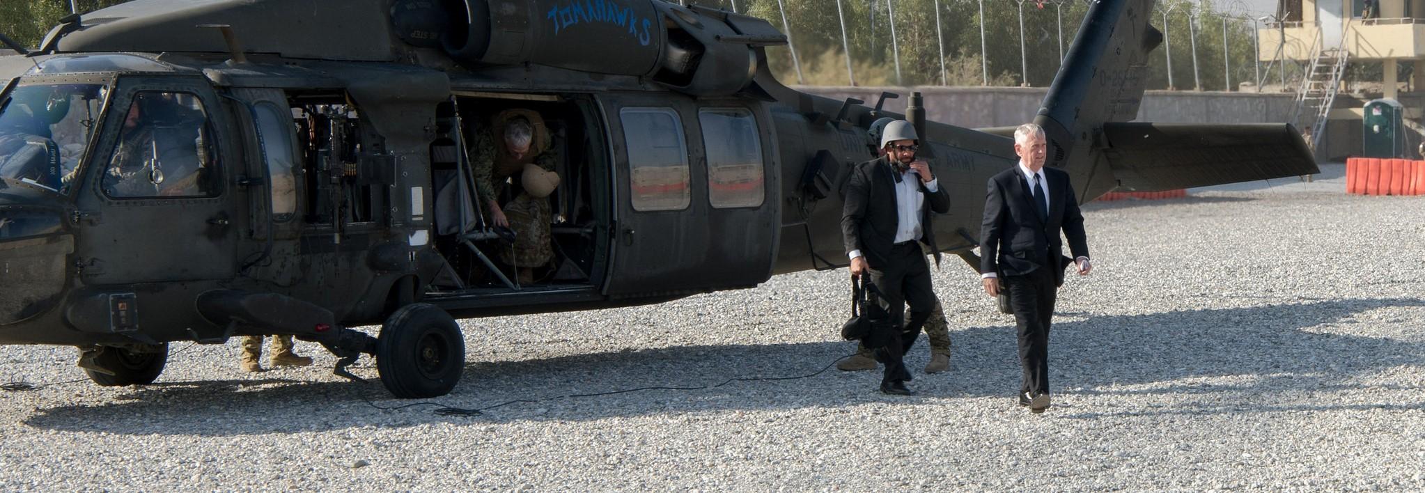 Secretary of Defense Jim Mattis in Afghanistan, September 2017 (Photo: Jim Mattis/Flickr)