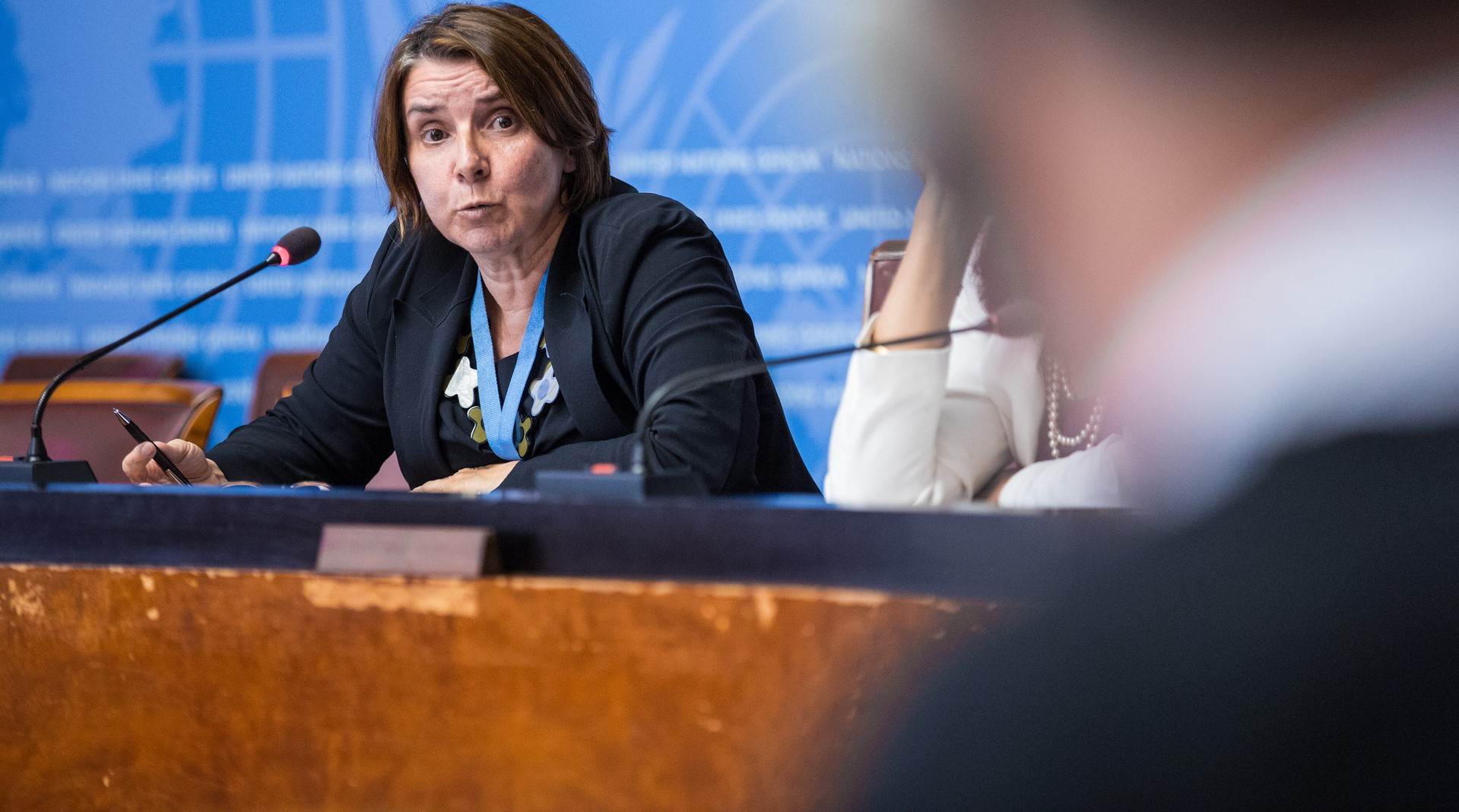 Catherine Marchi-Uhel, Head of the UN's International, Impartial and Independent Mechanism, September 2017 (Photo: UN Geneva/Flickr)